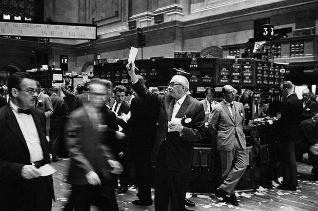 Floor of the New York Stock Exchange 1963