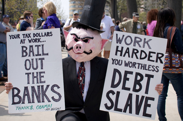 Slave to the debt.