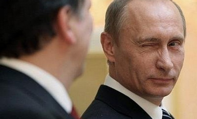 Putin winks to the world.