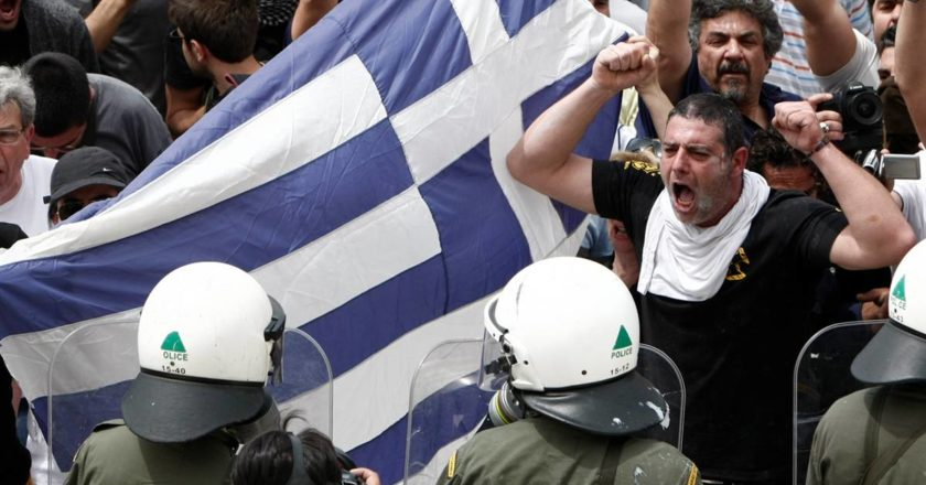 Greeks Protest Austery Cuts