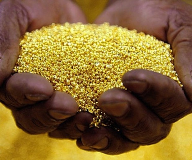 Gold in hands